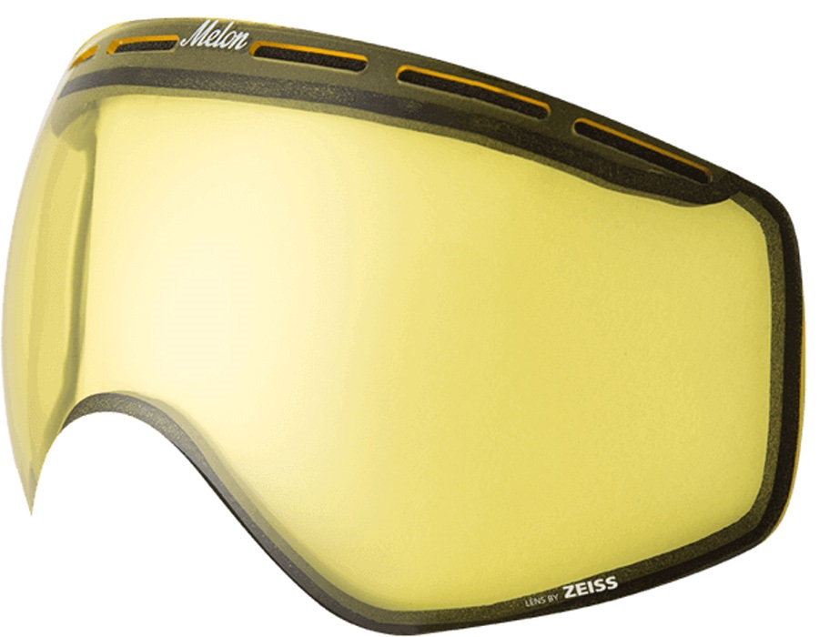 Melon Chief Ski/Snowboard Goggle Lens, One Size Yellow Low Light