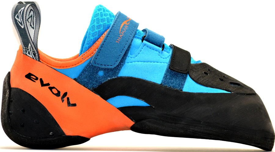 Evolv Shaman 2 Rock Climbing Shoe UK 9 | EU 43 Orange/Blue