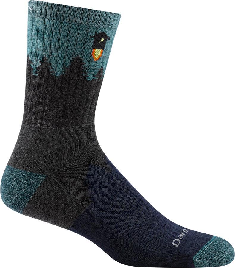 Darn Tough Adult Unisex Number 2 Micro Crew Midweight Hiking Socks, Xl Grey