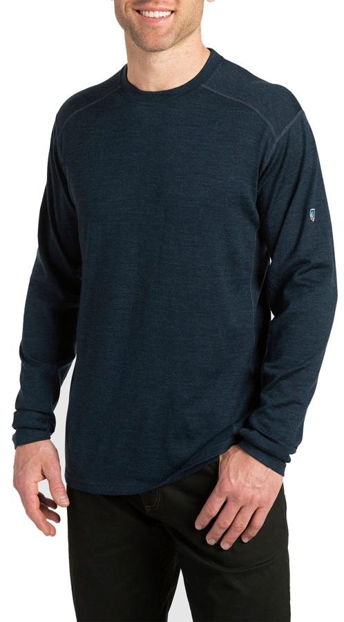Kuhl Skar Regular Merino Crew Longsleeve Shirt, L Pirate Blue