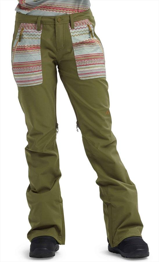 Burton Vida Women's Ski/Snowboard Pants, S Martini Olive