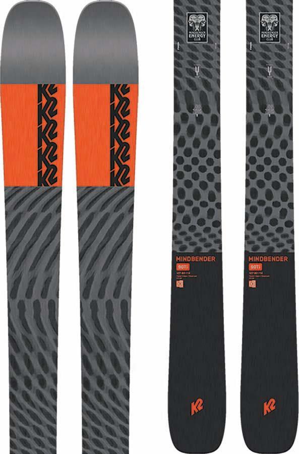 K2 Mindbender 90Ti Ski Only Skis, 177cm Grey/Red 2022