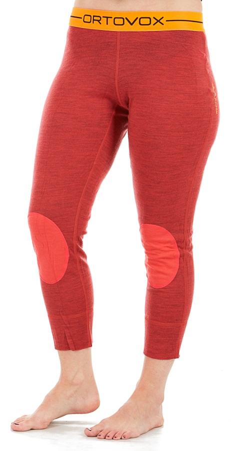 Ortovox Rock'n'Wool Short Women's Thermal Pants, S Hot Coral Blend