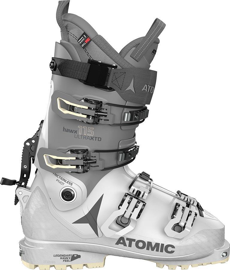 Atomic HAWX Ultra XTD 115 W T Women's Ski Boots, 25/25.5 White/Grey 2022
