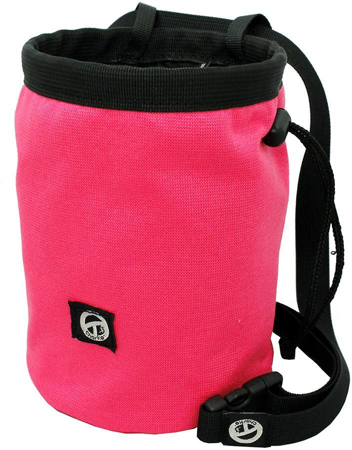 Charko Tube Rock Climbing Chalk Bag, Regular Fluo Pink