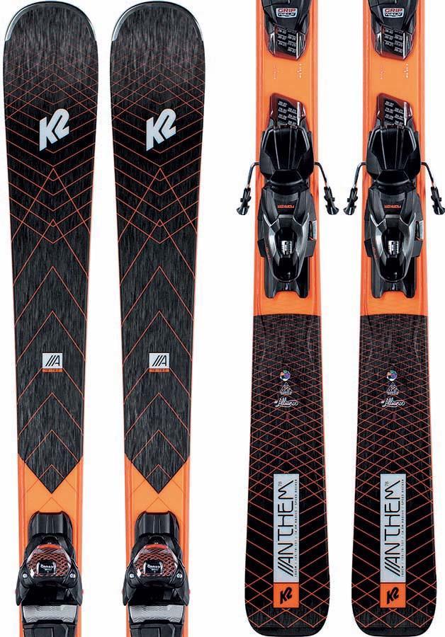 K2 Anthem 78 Marker ER3 10 Women's Skis, 153cm Black/Orange 2021