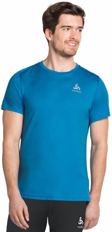 Odlo Zeroweight Crew Short Sleeve Running T-Shirt, L Blue Aster