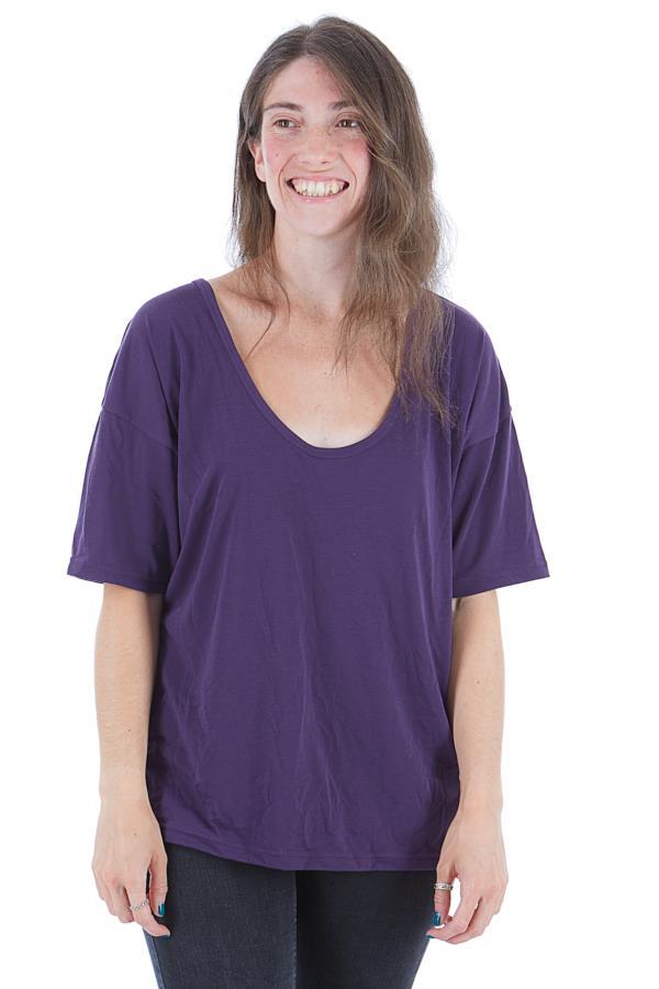 Burton Womens Luxemore Women's Scoop T Shirt, S Purple Velvet