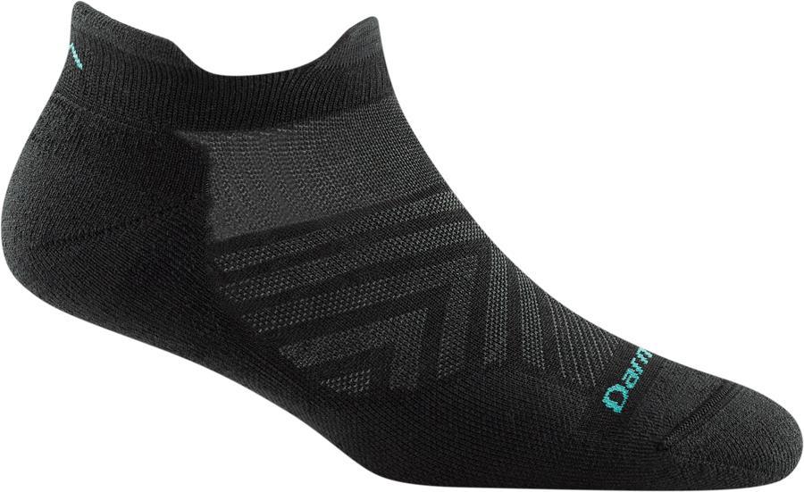 Darn Tough Run No-Show Tab Cushion Women's Running Socks, S Black