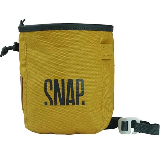 Snap Pocket Zip Rock Climbing Chalk Bag, 17 X 13 X 7 Cm, Curry