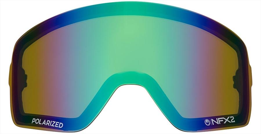 Dragon NFX2 Ski/Snowboard Goggles Spare Lens, Polarised Flash Green