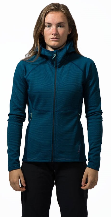 Montane Isotope Women's Hooded Hiking Fleece, M / UK 12 Narwhal Blue