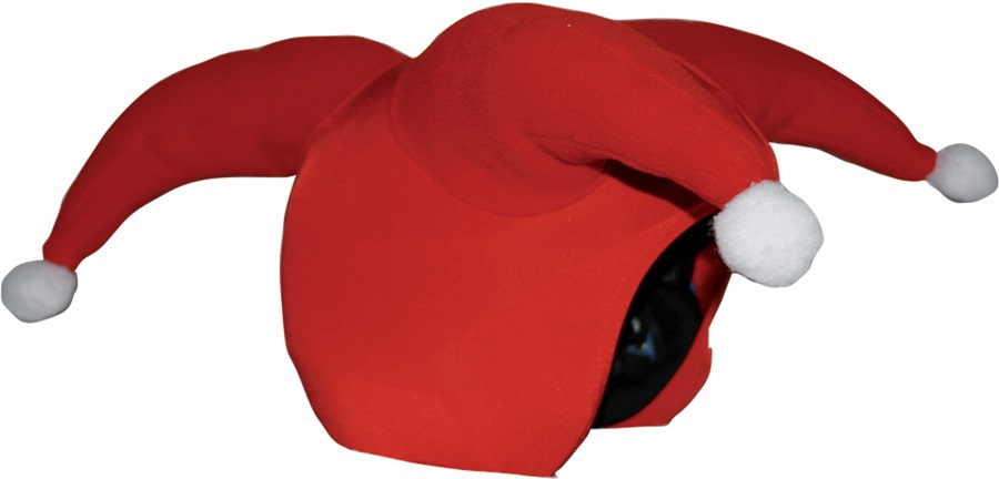 Coolcasc Show Time Ski/Snowboard Helmet Cover, One Size, Santa Claus