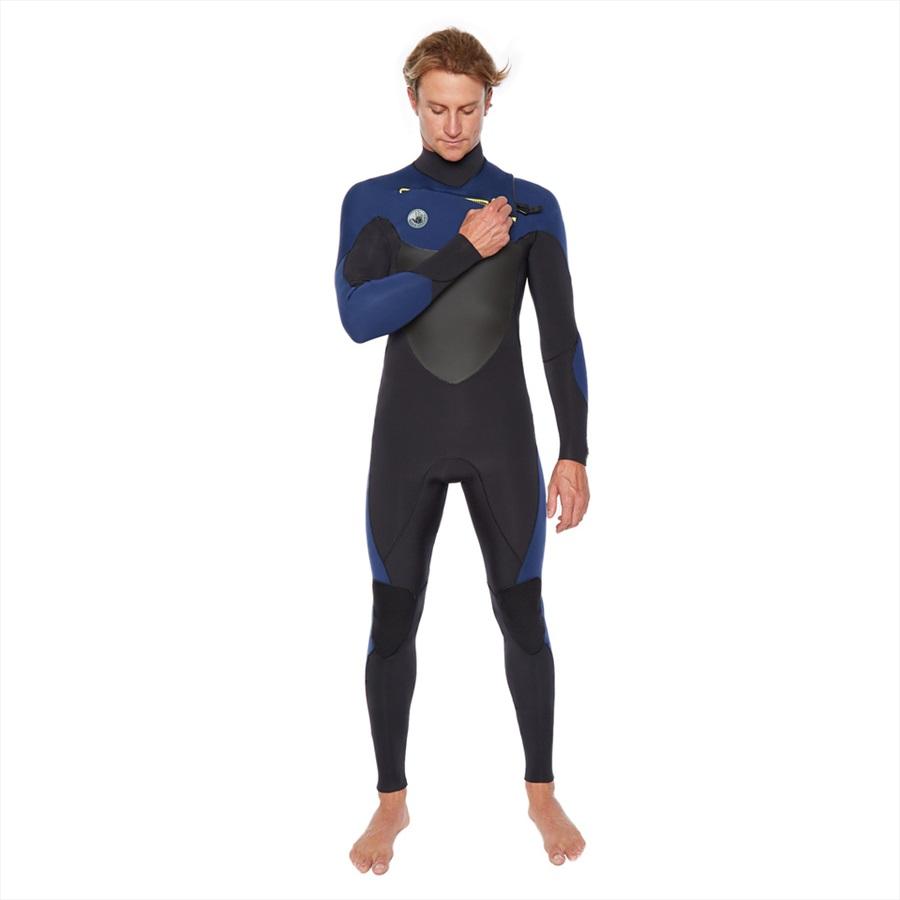 Body Glove Siroko 3/2 Slant Zip Full Surfing Wetsuit, MT Black Blue