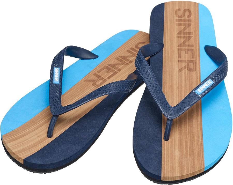 Sinner Capitola Men's Flip Flops, UK 12 / EU 46 Blue/Brown