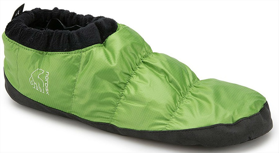 Nordisk Mos Down Shoes Insulated Camping Slippers, UK 9-12 Green