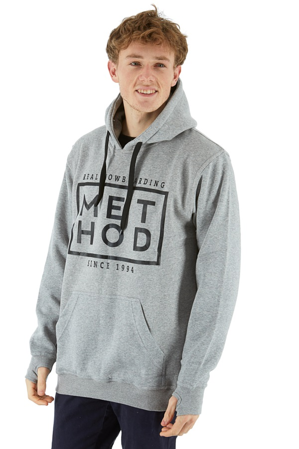 Method Box Logo Pullover Hoodie, M Grey