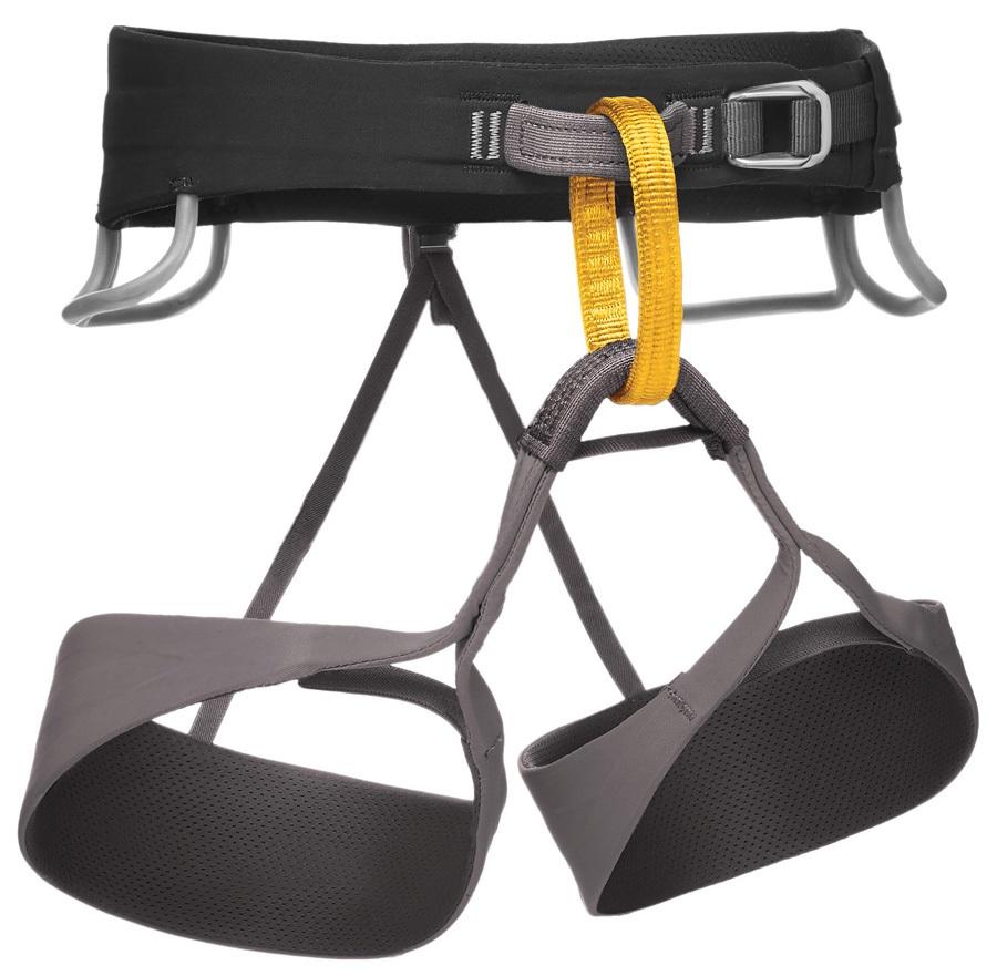 Black Diamond Solution Rock Climbing Harness - XL, Black-Slate
