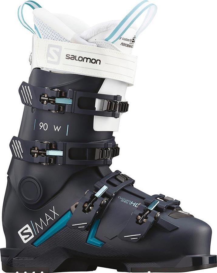 Salomon S/Max 90 W Women's Ski Boots, 27/27.5 Blue/Scuba Blue 2020