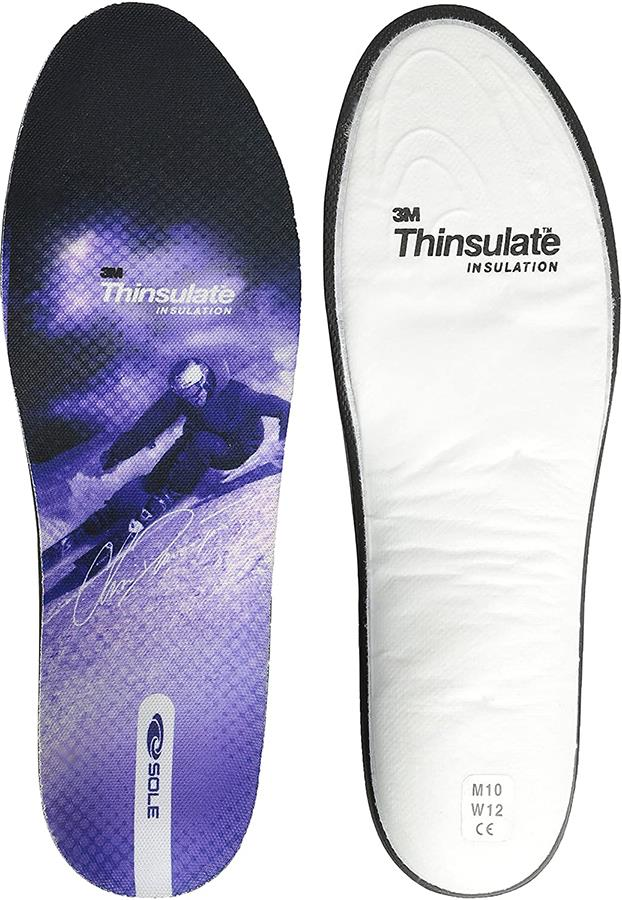 Sole CD Signature Thinsulate Ski Boot Thermal Insoles, UK 5 Purple