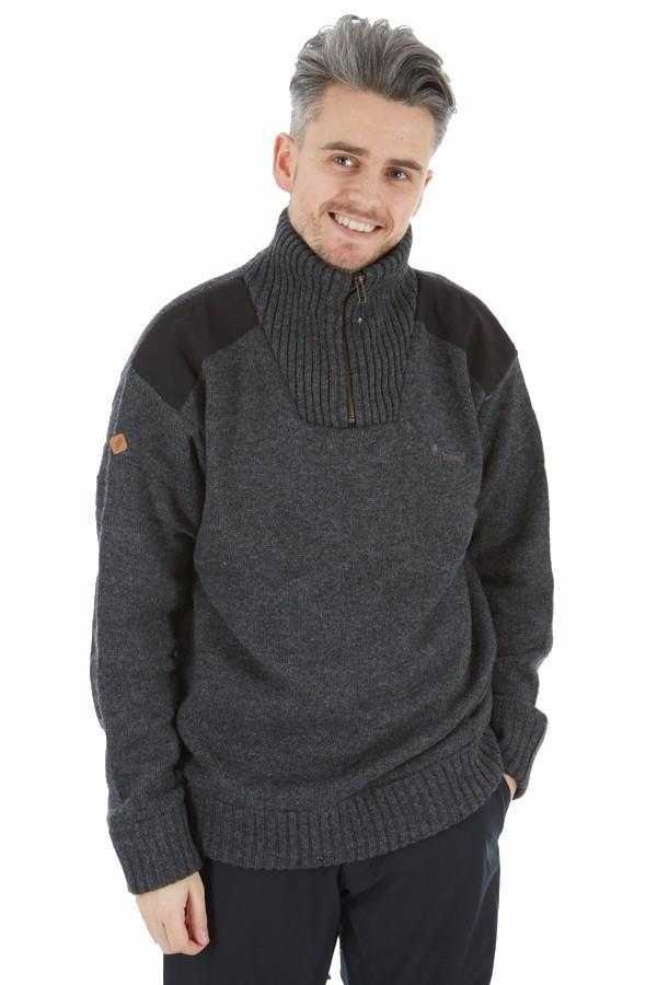 Pinewood Hurricane Half Zip Sweatshirt, M Dark Grey