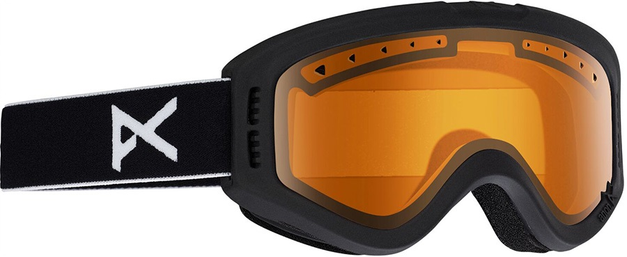 Anon Tracker Amber Kid's Ski/Snowboard Goggles, S Black
