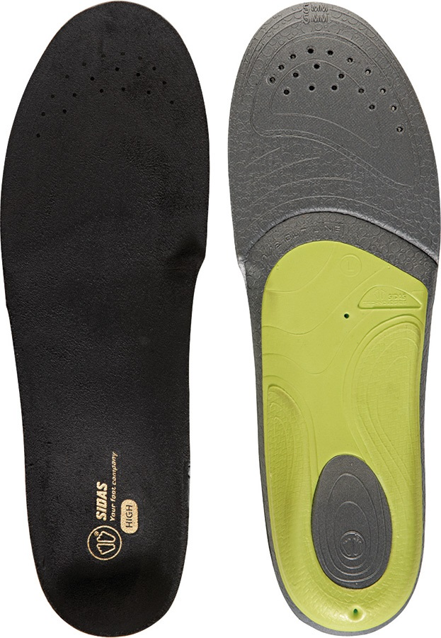 Sidas 3Feet Slim High Boot/Shoe Insoles, XS Black/Green