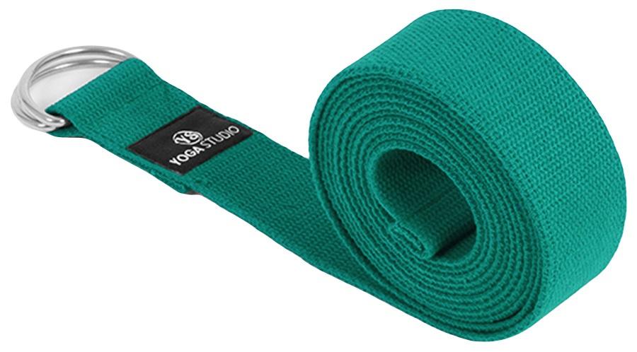 "Yoga Studio D-Ring Belt Yoga/Pilates Strap, 1.5"" Wide Turquoise"