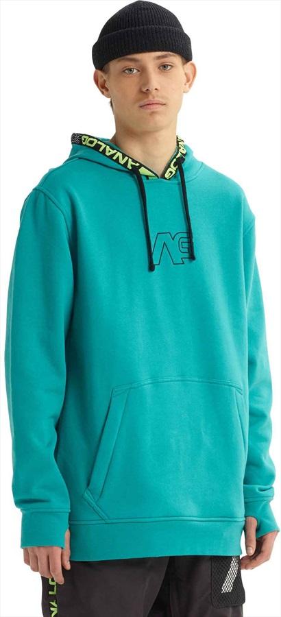 Analog Crux Pullover Ski/Snowboard Tech Hoodie S Green/Blue Slate
