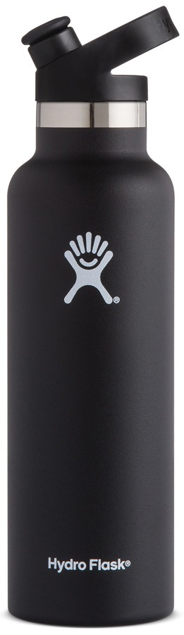 Hydro Flask 21oz Standard Mouth With Sport Cap Water Bottle, Black