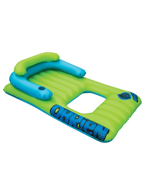 O'Brien Lounger Lilo Leisure Float Inflatable, 1 Rider Green Blue