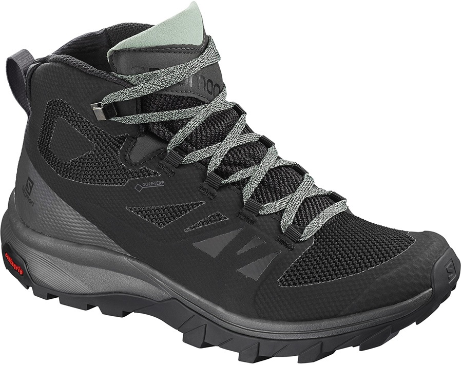 Salomon OUTline Mid GTX Women's Hiking Boots, UK 5 Black/Green