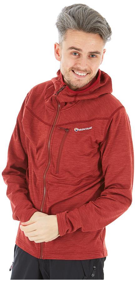 Montane Adult Unisex Protium Full-Zip Fleece Hoodie, S Redwood