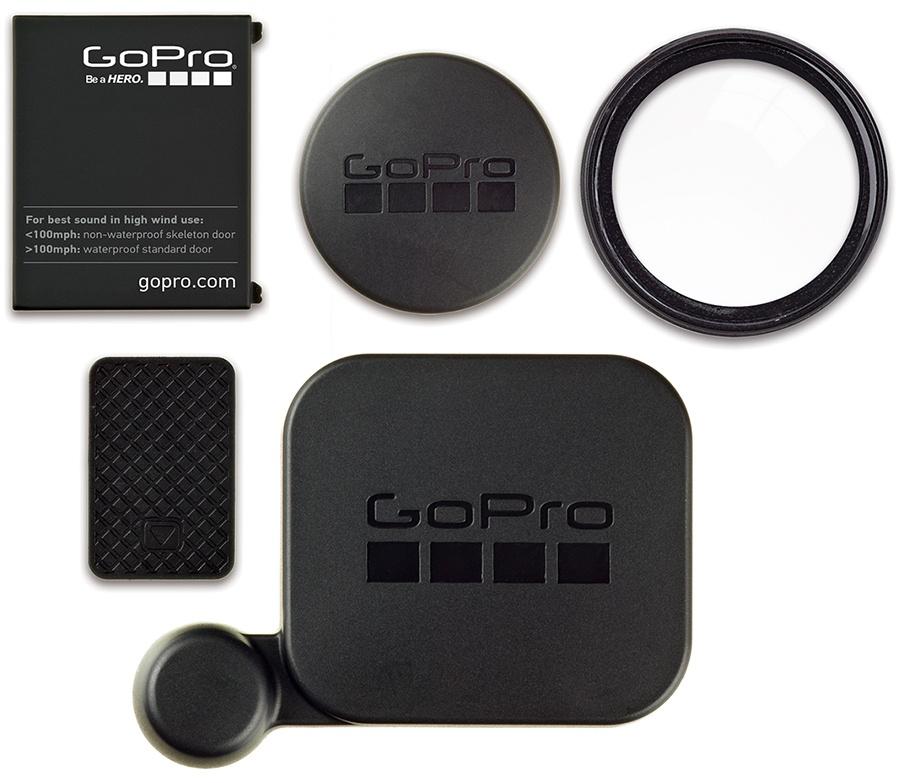 GoPro Hero 3+/Hero 4, Protective Lens Caps & Doors, Black