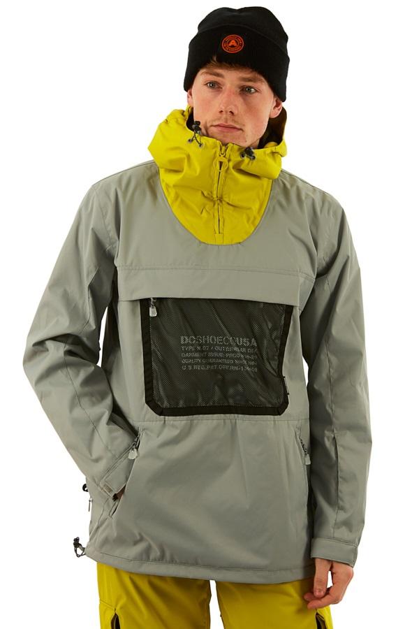 DC ASAP Anorak Ski/Snowboard Jacket, L Neutral Grey