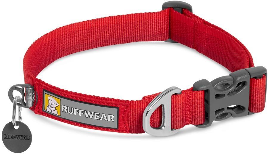 Ruffwear Front Range Collar Webbing Dog Collar, S Red Sumac