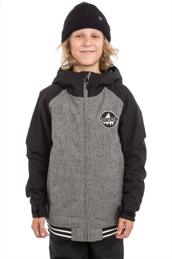 Burton Gameday Boy's Snowboard/Ski Jacket, M Heather/Black
