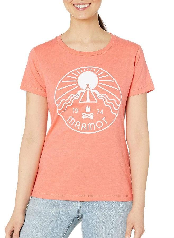Marmot Prism Women's Short Sleeve T-Shirt, L Flamingo Heather