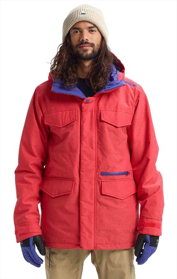 Burton Covert Ski/Snowboard Jacket, M Flame Scarlet Ripstop