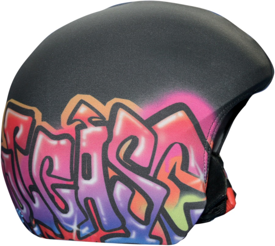 Coolcasc Printed Cool Ski/Snowboard Helmet Cover, One Size, Graffiti