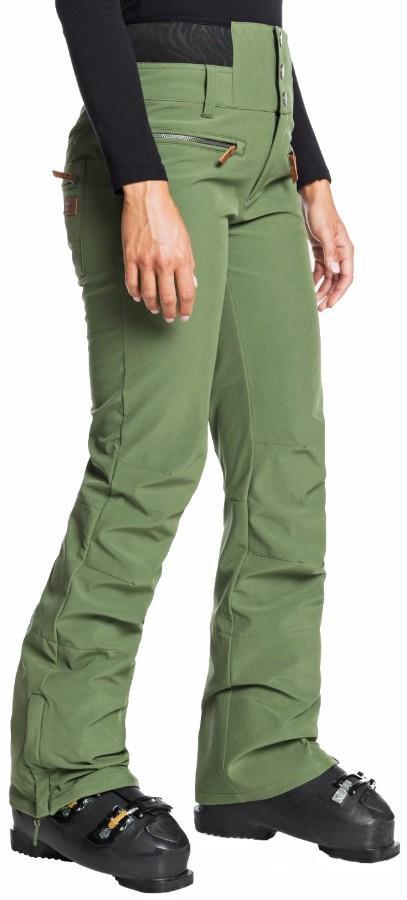 Roxy Rising High Women's Snowboard/Ski Pants S Bronze Green