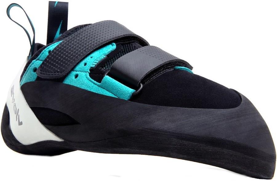 Evolv Geshido Velcro Rock Climbing Shoe, UK 7 l EU 41 Black/Teal