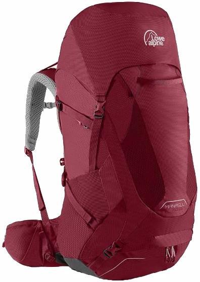 Lowe Alpine Womens Manaslu Nd65 Trekking Backpack, 50+15l Rasberry