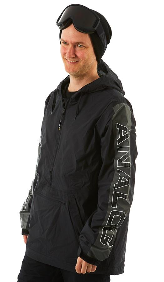 Analog Chainlink Anorak Pull Over Snowboard/Ski Jacket, M Black