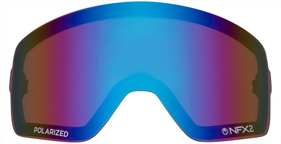 Dragon NFX2 Ski/Snowboard Goggles Spare Lens, Polarised Flash Blue