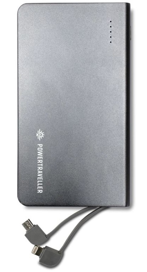 PowerTraveller Swift 40 Power Pack + Integrated Cables, 10000mAh
