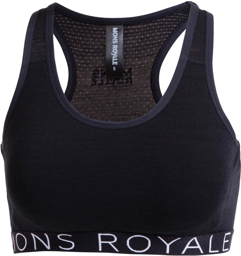 Mons Royale Sierra Women S Merino Wool Sports Bra Xs Black