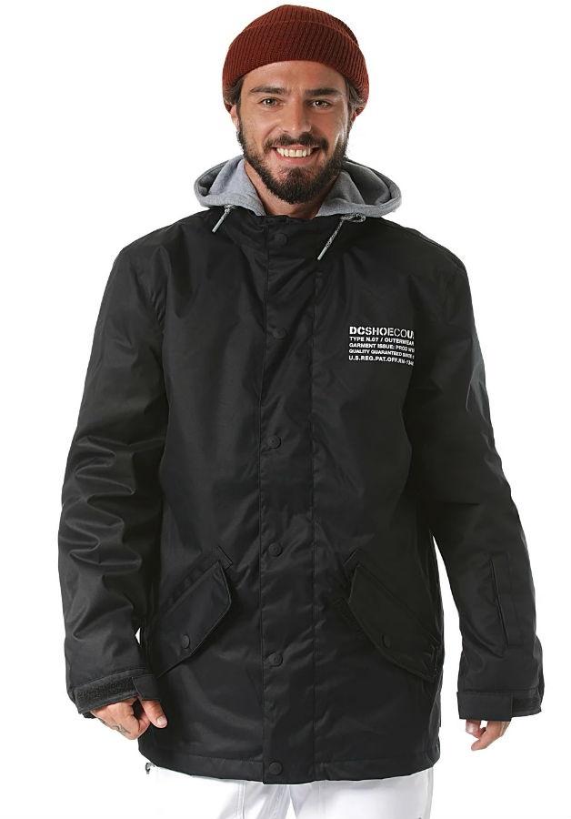 DC Union Ski/Snowboard Jacket, S Black 2020