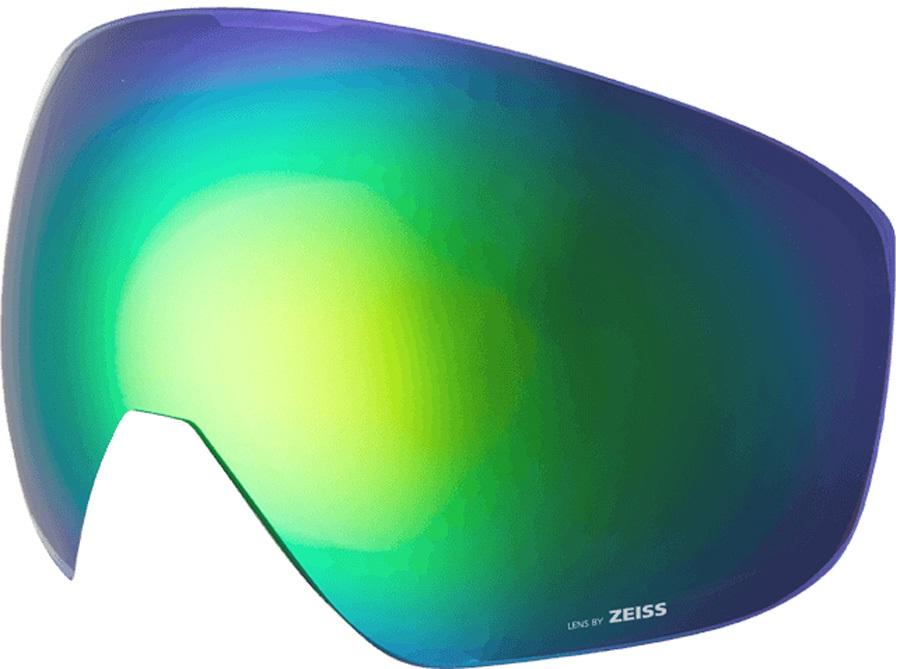 Melon Jackson Ski/Snowboard Goggle Lens, One Size Green Chrome