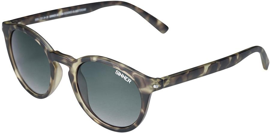 Sinner Patnem Round Green Winter/Summer Sunglasses, Olive Tortoise